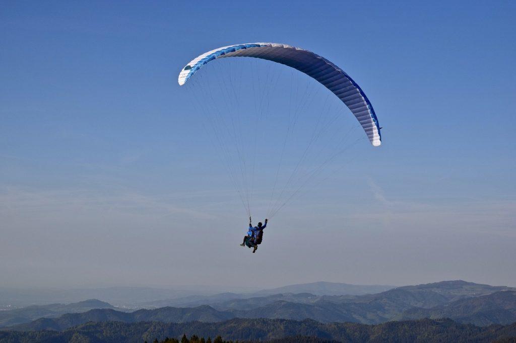 paragliding, glider, sky